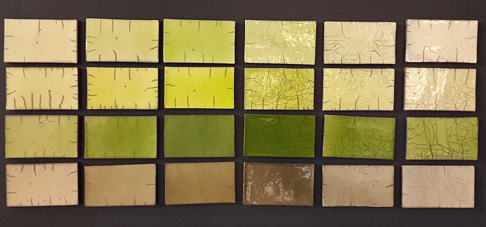 Raku Color chart Fabienne L\'Hostis Raku ceramics